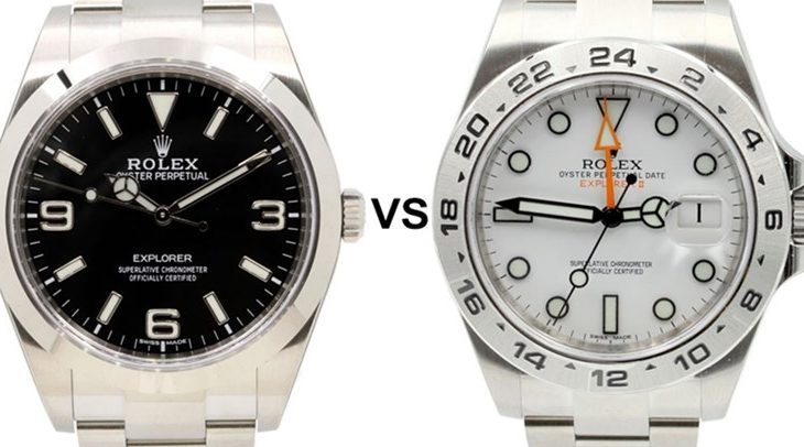Fake Rolex Explorer VS Explorer II