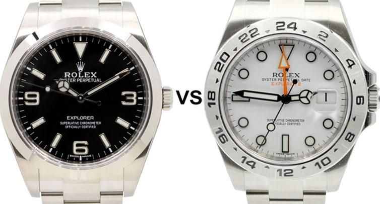 Fake Rolex Explorer VS Explorer II