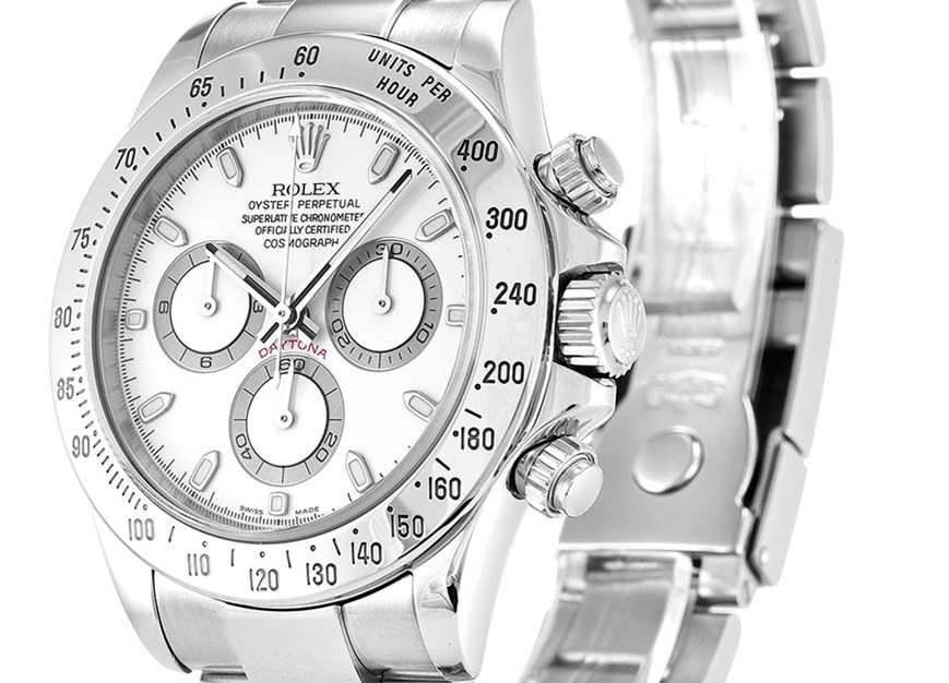 White Rolex Daytona 116520 Fake Watches