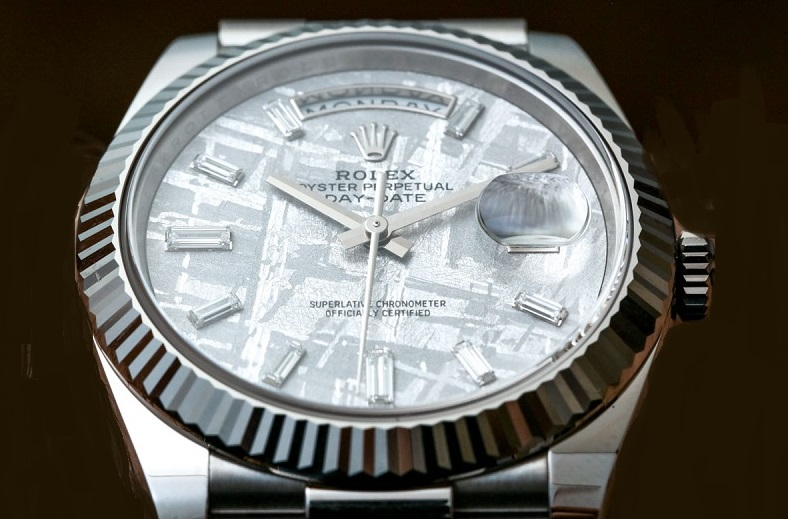 fake Rolex Day-Date 228239 meteorite dial
