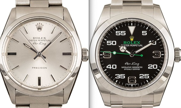 Rolex replica Air-King comparison