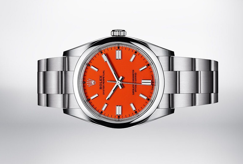 Rolex imitation Oyster Perpetual 41 coral red dial