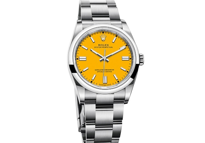 Rolex imitation Oyster Perpetual 41 yellow dial