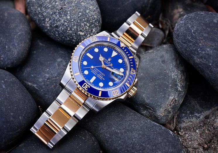 replica watches Rolex Submariner 116613 blue dial